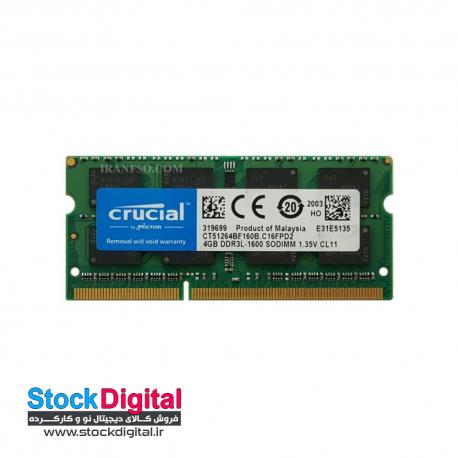 رم لپ تاپ 8 گیگ Crucial DDR3 PC3L 1600 12800 MHZ